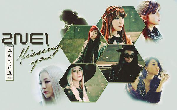 Tags: K-Pop, 2NE1, Minzy, CL, Park Bom, Sandara Park, Korean Text, Hat, White Background, Black Shirt, White Hair, Text: Artist Name