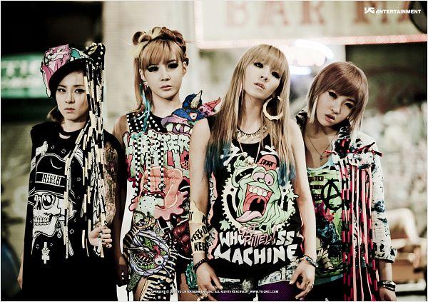 Tags: K-Pop, 2NE1, Ugly, Sandara Park, Minzy, CL, Park Bom, Bracelet, Looking Away, Sleeveless, Necklace, Quartet