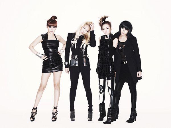 Tags: K-Pop, 2NE1, I Am The Best (Song), Park Bom, Sandara Park, Minzy, CL, Full Body, Light Background, Blonde Hair, White Background, Black Skirt
