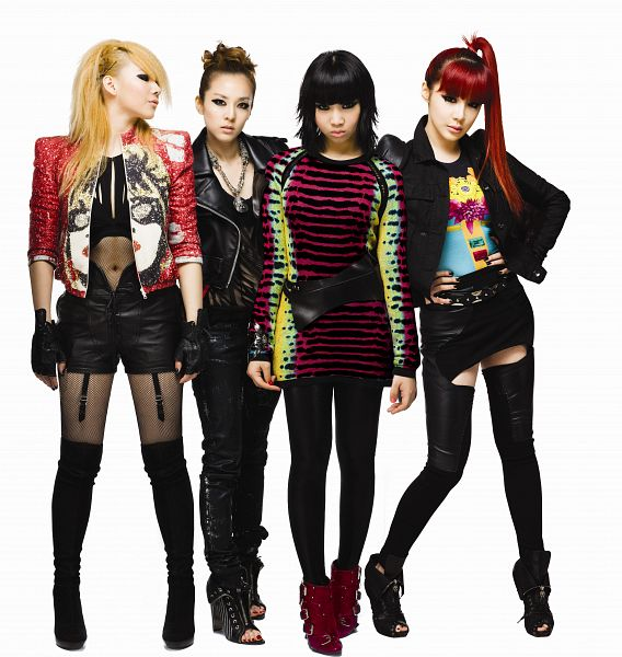 Tags: K-Pop, 2NE1, CL, Park Bom, Sandara Park, Minzy, Four Girls, Fingerless Gloves, Blonde Hair, Looking Away, Ponytail, Necklace
