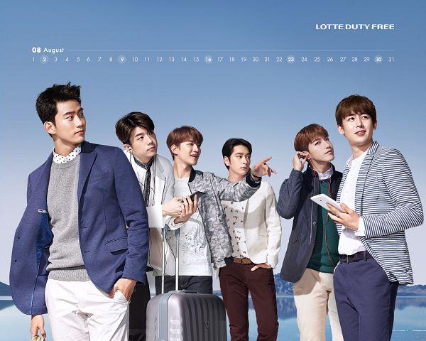 Tags: K-Pop, 2PM, Jang Wooyoung, Lee Junho, Hwang Chansung, Nichkhun, Ok Taecyeon, Jun.K, Group, Lotte, Calendar