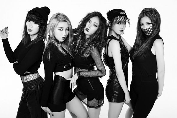 Tags: K-Pop, 4Minute, Crazy, Nam Ji-hyun (singer), Hyuna, Gayoon, Jiyoon, Sohyun, Skirt, Black Skirt, Black Headwear, Black Pants