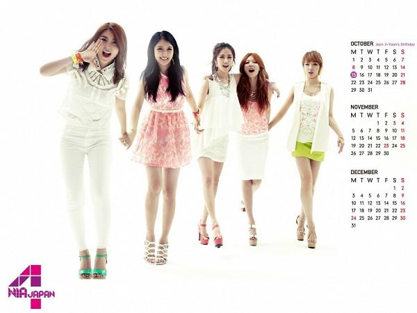 Tags: K-Pop, 4Minute, Hyuna, Gayoon, Jenyer, Sohyun, Son Jihyun, Calendar