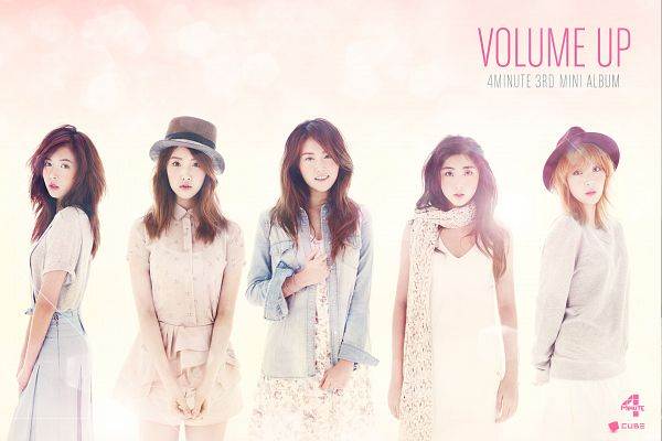 Tags: K-Pop, 4Minute, Sohyun, Son Jihyun, Hyuna, Gayoon, Jenyer, Volume Up, Wallpaper