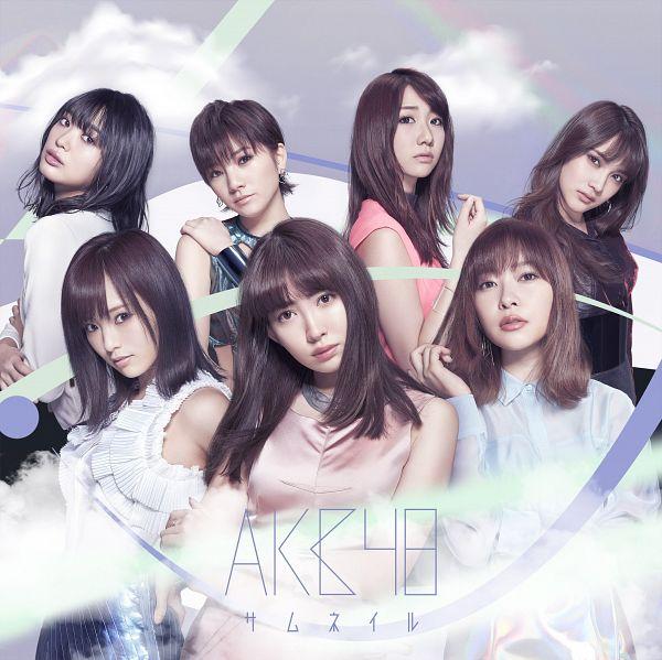 Tags: J-Pop, AKB48, Kashiwagi Yuki, Okada Nana, Iriyama Anna, Haruna Kojima, Kitahara Rie, Sayaka Yamamoto, Sashihara Rino, Blunt Bangs, Bare Shoulders, Sleeveless