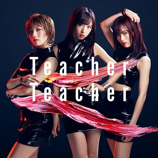 Tags: J-Pop, AKB48, Teacher Teacher, Oguri Yui, Sayaka Yamamoto, Okada Nana, English Text, Collar (Clothes), Hand On Hip, Crossed Arms, Head Tilt, Blunt Bangs