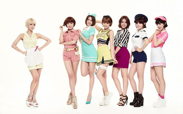 Tags: K-Pop, AOA (Ace Of Angels), Kwon Mina, Seo Yuna, Park Choa, Kim Chanmi, Shin Hyejeong, Shin Jimin, Kim Seolhyun, Full Body, Full Group, Light Background