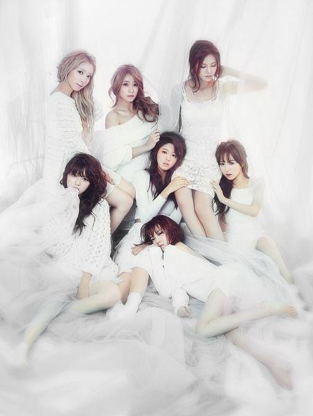 Tags: K-Pop, AOA (Ace Of Angels), Kim Seolhyun, Kwon Mina, Seo Yuna, Park Choa, Kim Chanmi, Shin Hyejeong, Shin Jimin, White Dress, Red Hair, White Outfit