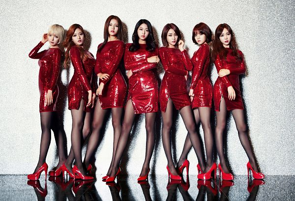 Tags: K-Pop, AOA (Ace Of Angels), Miniskirt (Song), Kim Seolhyun, Kwon Mina, Seo Yuna, Park Choa, Kim Chanmi, Shin Hyejeong, Shin Jimin, Red Dress, Full Group