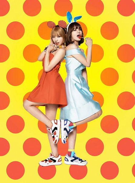 Tags: K-Pop, AOA (Ace Of Angels), Park Choa, Shin Jimin, Two Girls, Spotted Background, Duo, Full Body, Android/iPhone Wallpaper, Sbenu