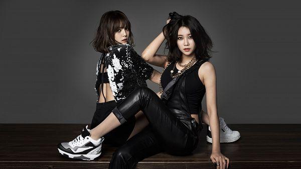 Tags: K-Pop, AOA (Ace Of Angels), Seo Yuna, Shin Jimin, Lingerie, Two Girls, Bra, Duo, HD Wallpaper, Wallpaper