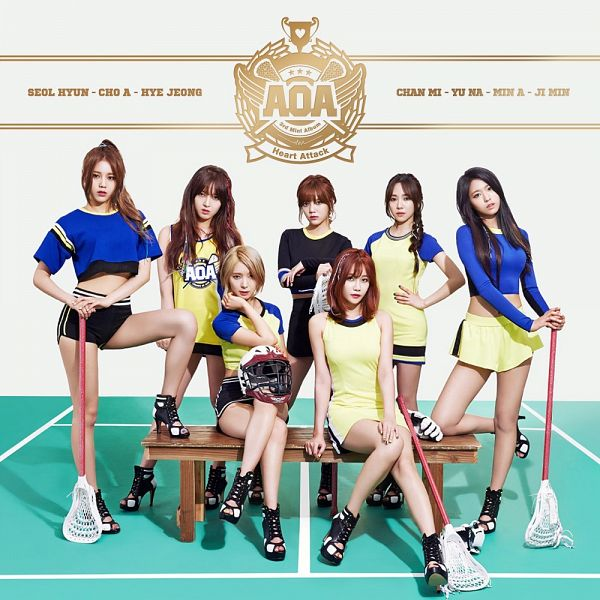 Tags: K-Pop, AOA (Ace Of Angels), Heart Attack (AOA), Shin Jimin, Park Choa, Seo Yuna, Shin Hyejeong, Kim Chanmi, Kim Seolhyun, Kwon Mina, Text: Album Name, Hand On Hip