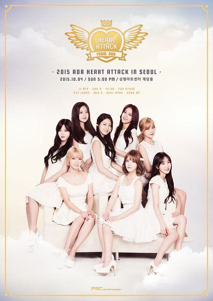 Tags: K-Pop, AOA (Ace Of Angels), Park Choa, Shin Hyejeong, Shin Jimin, Seo Yookyung, Kim Seolhyun, Seo Yuna, Kwon Mina, Kim Chanmi, White Outfit, Text: Artist Name