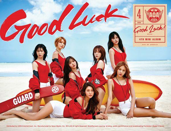 Tags: K-Pop, AOA (Ace Of Angels), Good Luck (Song), Seo Yuna, Kwon Mina, Kim Chanmi, Park Choa, Shin Hyejeong, Shin Jimin, Kim Seolhyun, Text: Song Title, Text: Artist Name