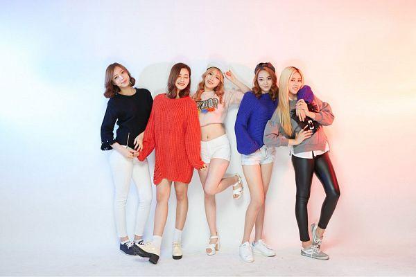 Tags: K-Pop, ATT (Asia Twinkle Treasure), Pop It Up, Bae Seohee, Sebi, Kwak Yujeong, Joo Ayeong, Lee Seyeon, Blue Shirt, Group, Gray Shirt, Multi-colored Background