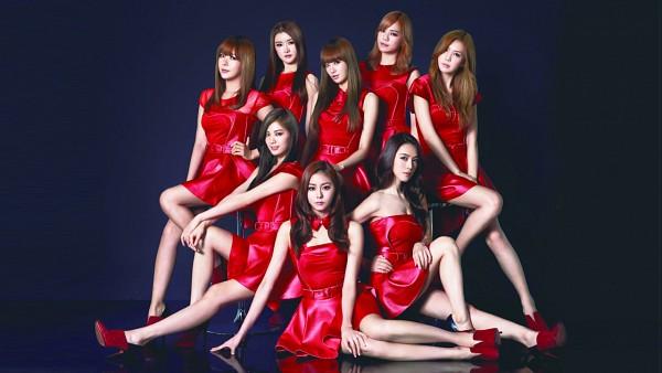 Tags: K-Pop, After School, E-young, Lizzy, Kim Jungah, Raina, Kahi, Uee, Lee Jooyeon, Nana, Full Group, Red Dress