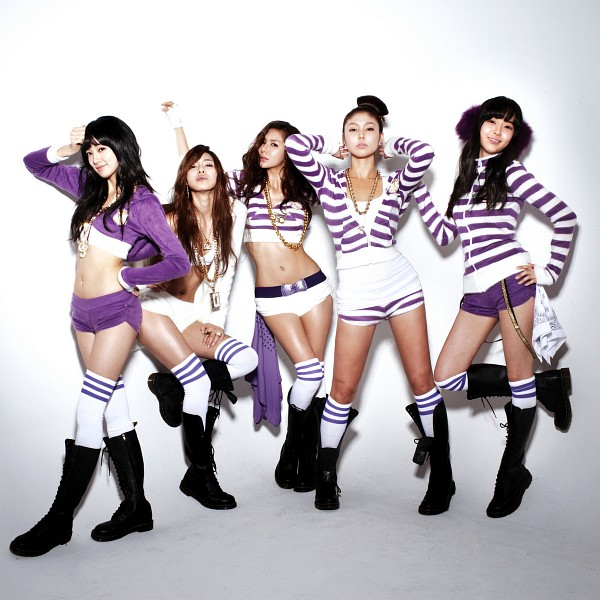 Tags: K-Pop, After School, Lee Jooyeon, Yoo So-young, Bekah, Kim Jungah, Kahi, Five Girls, Full Group, Striped, Striped Shirt, Quintet