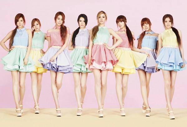 Tags: K-Pop, After School, Lee Jooyeon, Nana, E-young, Kim Jungah, Lizzy, Raina, Kahi, Uee, Ponytail, Lifting Skirt