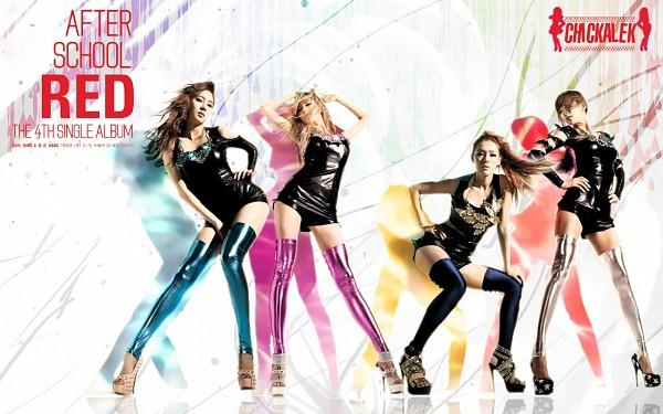 Tags: K-Pop, After School, Nana, Kim Jungah, Kahi, Uee, Hand On Hip, High Heels, Latex, Suggestive, Sexy Pose