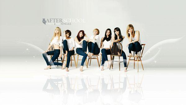 Tags: K-Pop, After School, Raina, Uee, Bekah, Nana, Kahi, Kim Jungah, Lee Jooyeon, Sitting On Chair, Chair, Wallpaper