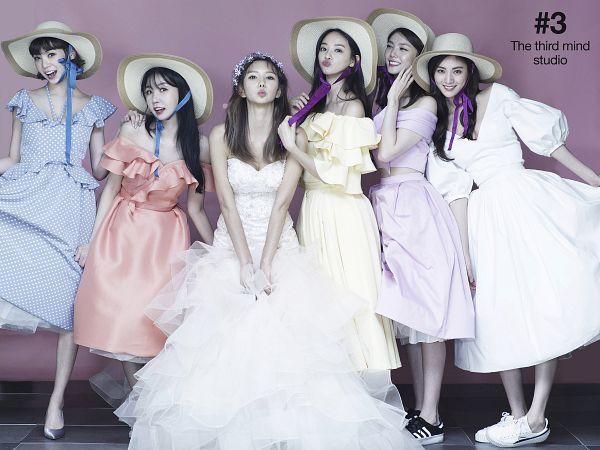 Tags: K-Pop, After School, Raina, Yoo So-young, Nana, Lee Gaeun, Kim Jungah, Lizzy, White Dress, Blue Dress, Yellow Outfit, Veil