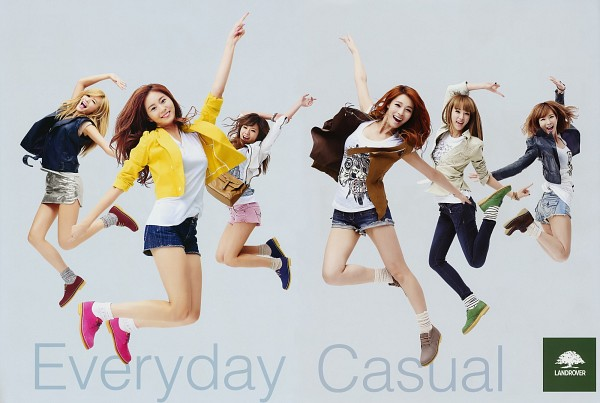 Tags: K-Pop, After School, Lee Jooyeon, Lizzy, Uee, Kahi, Nana, Kim Jungah, Socks, Jumping, No Background, Red Hair