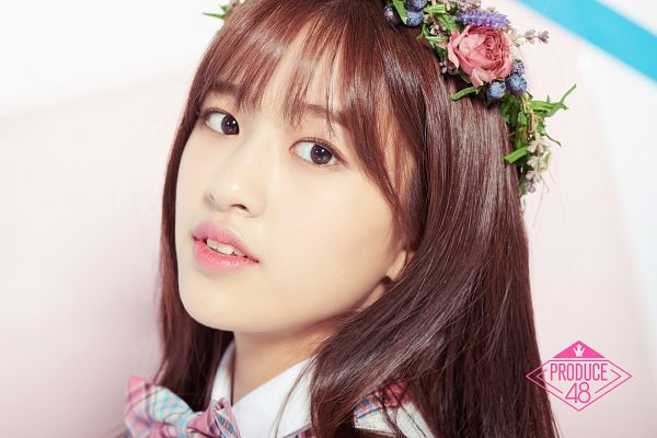 Tags: K-Pop, Television Show, Ahn Yujin, Flower Crown, Hair Ornament, Close Up, Crown, Serious, Flower, Produce 48, Mnet