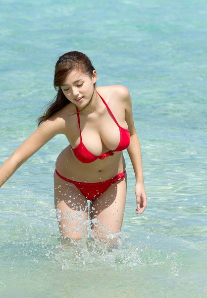 Tags: Gravure Idol, Ai Shinozaki, Water, Eyes Closed, Big Breasts, Collarbone, Bend Over, Bare Shoulders, Cleavage, Outdoors, Sea, Bare Legs