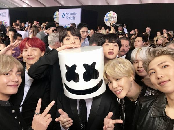 Tags: K-Pop, BTS, Suga, Jungkook, Jin, V (Kim Taehyung), Rap Monster, Park Jimin, J-Hope, V Gesture, Black Outerwear, Black Jacket