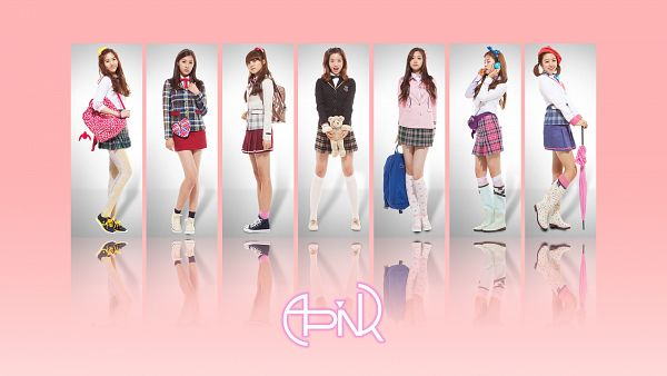 Tags: K-Pop, Apink, Park Cho-rong, Jung Eun-ji, Kim Nam-joo, Hong Yoo-kyung, Oh Ha-young, Son Na-eun, Yoon Bo-mi, Group, Wallpaper, HD Wallpaper
