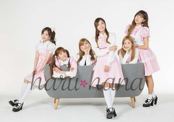 Tags: Plan A Entertainment, K-Pop, Apink, Oh Ha-young, Son Na-eun, Yoon Bo-mi, Park Cho-rong, Jung Eun-ji, Kim Nam-joo, Couch, Pink Outfit, White Background