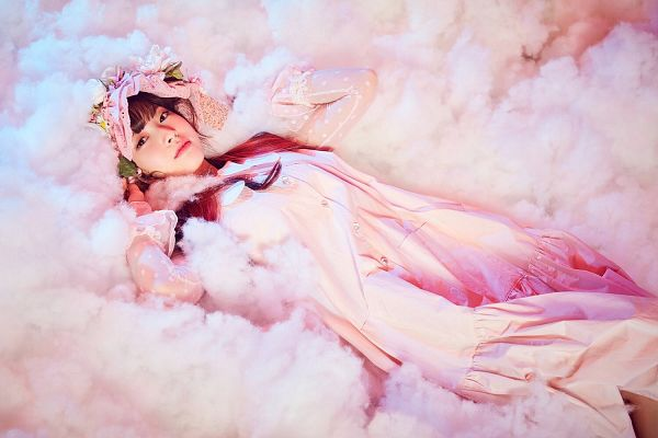 Tags: K-Pop, Oh My Girl, Arin, Laying On Back, Clouds, Laying Down, Wallpaper