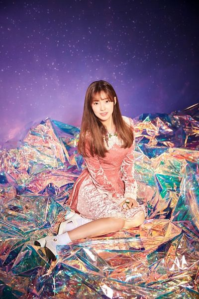 Tags: K-Pop, Oh My Girl, Arin, High Heels, Purple Background, Wallpaper, Secret Garden (Oh My Girl)