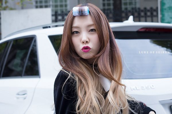 Tags: K-Pop, Ladies Code, Ashley, Blue Eyes, Car, Contact Lenses, Kiss, Wavy Hair