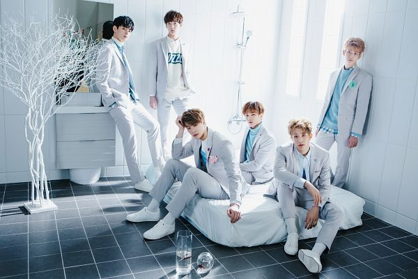 Tags: K-Pop, Astro, Yoon Sanha, Cha Eunwoo, Moon Bin, Jin Jin, MJ, Collar (Clothes), White Background, Bed, Group, On Bed