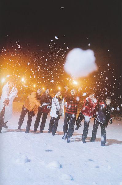 Tags: K-Pop, BTS, J-Hope, Suga, Jungkook, Jin, V (Kim Taehyung), Rap Monster, Park Jimin, Black Headwear, Hat, Night