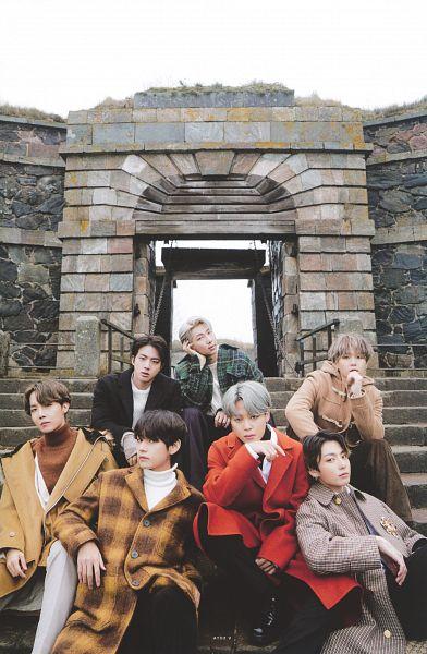 Tags: K-Pop, BTS, Rap Monster, Park Jimin, J-Hope, Suga, Jungkook, Jin, V (Kim Taehyung), Arm Support, Serious, Head On Shoulder