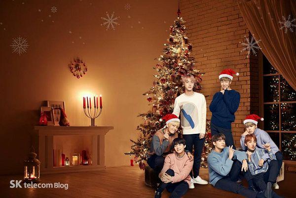 Tags: K-Pop, BTS, Suga, Jungkook, Jin, V (Kim Taehyung), Rap Monster, Park Jimin, J-Hope, Tree, Full Group, Pine Tree