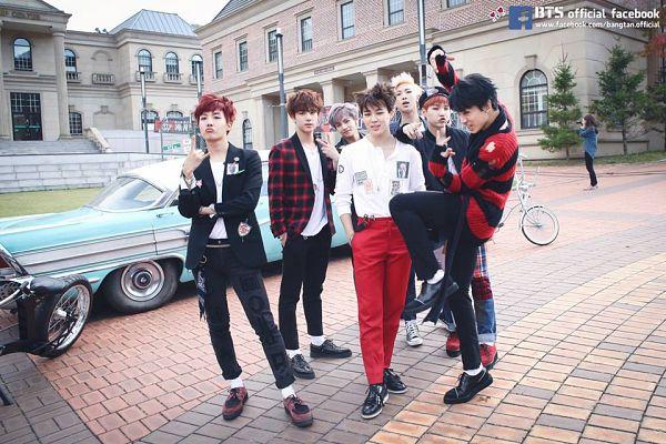 Tags: K-Pop, BTS, War Of Hormone, J-Hope, Suga, Jungkook, Jin, V (Kim Taehyung), Rap Monster, Park Jimin, Bicycle, Red Pants