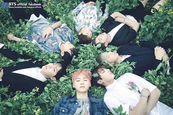 Tags: K-Pop, BTS, Jin, V (Kim Taehyung), Rap Monster, Park Jimin, J-Hope, Suga, Jungkook, Floral Shirt, Sleeping, Floral Print