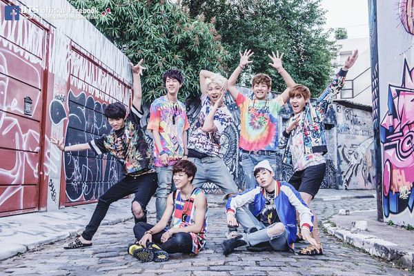 Tags: K-Pop, BTS, Rap Monster, Park Jimin, J-Hope, Suga, Jungkook, Jin, V (Kim Taehyung), Hat, Sitting On Ground, Black Pants