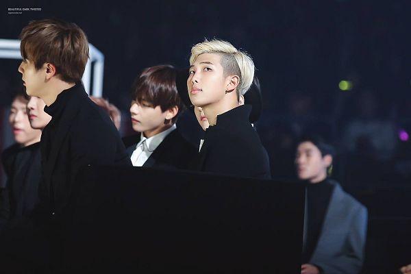 Tags: K-Pop, BTS, V (Kim Taehyung), Jin, Rap Monster, Three Males, Trio, Wallpaper