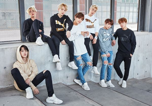 Tags: K-Pop, BTS, Suga, Jungkook, Jin, V (Kim Taehyung), Rap Monster, Park Jimin, J-Hope, Full Group, Jeans, Ripped Pants