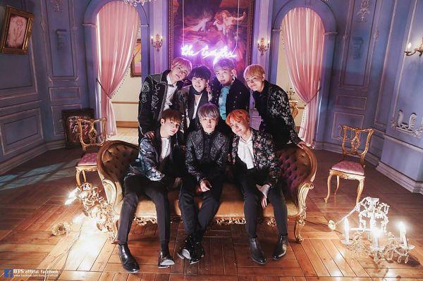 Tags: K-Pop, BTS, Blood Sweat & Tears, Rap Monster, Park Jimin, J-Hope, Suga, Jungkook, Jin, V (Kim Taehyung), Gray Hair, Black Pants