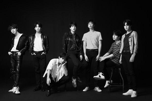 Tags: K-Pop, BTS, Suga, Jungkook, Jin, V (Kim Taehyung), Rap Monster, Park Jimin, J-Hope, Chair, Full Group, Hand In Pocket