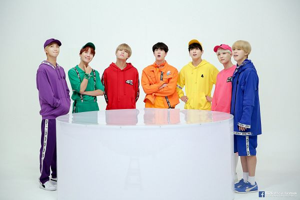 Tags: K-Pop, BTS, Jungkook, Jin, V (Kim Taehyung), Rap Monster, Park Jimin, J-Hope, Suga, Hood, Shorts, Blue Shorts