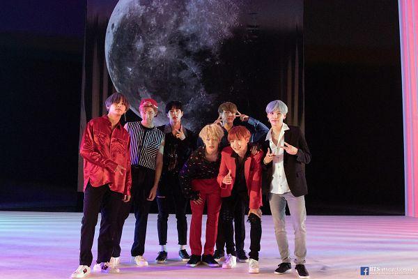 Tags: K-Pop, BTS, DNA, Park Jimin, J-Hope, Suga, Jungkook, Jin, V (Kim Taehyung), Rap Monster, Striped Shirt, White Footwear