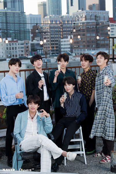 Tags: K-Pop, BTS, J-Hope, Suga, Jungkook, Jin, V (Kim Taehyung), Rap Monster, Park Jimin, Tie, Grin, Collar (Clothes)