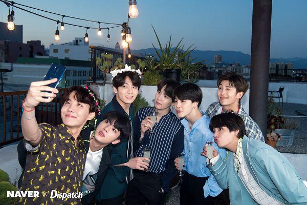 Tags: K-Pop, BTS, J-Hope, Suga, Jungkook, Jin, V (Kim Taehyung), Rap Monster, Park Jimin, Hand In Pocket, Sky, Full Group