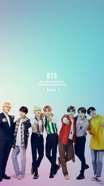 Tags: K-Pop, BTS, V (Kim Taehyung), Rap Monster, Park Jimin, J-Hope, Suga, Jungkook, Jin, Pointing, Gradient Background, Necklace